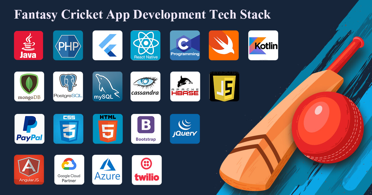 Fantasy Cricket App Development Tech Stack