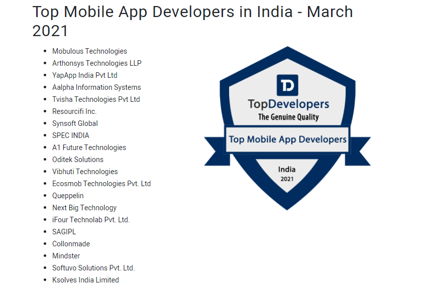 Top Mobile App Developers List